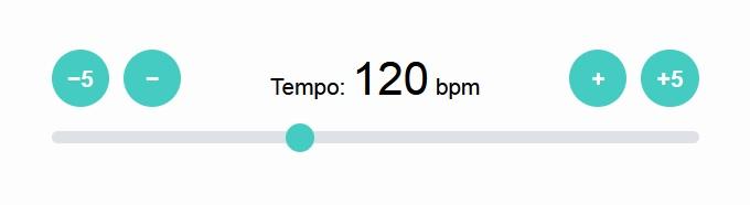 Online metronome - Tempo Settings