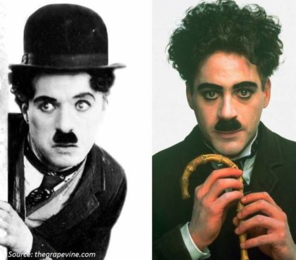 Playing the Violin Left Handed - Charlie Chaplin Robert Downey Jr