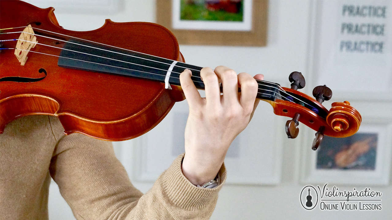 Practicing The Violin - Left Hand Position