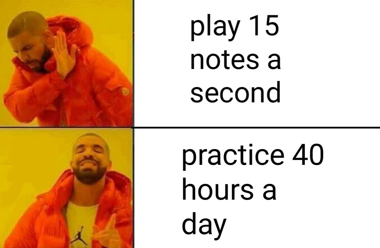 Practicing the Violin - Practice 40 Hours a Day Meme