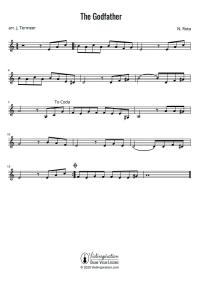 The Godfather - Main Theme - Violin Sheet Music Tutorial