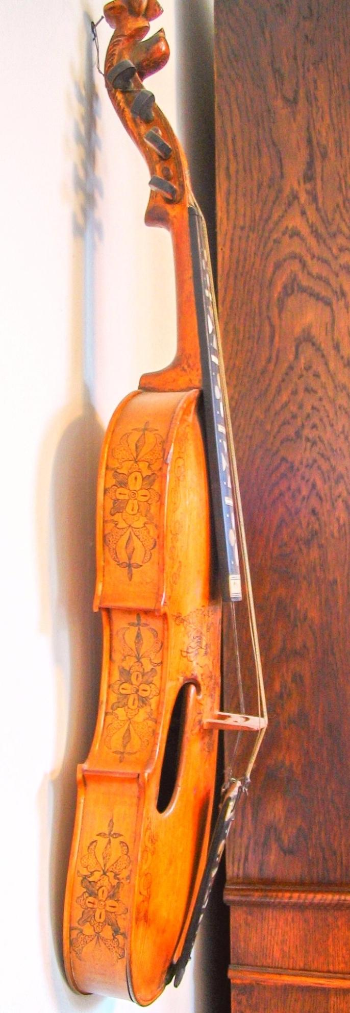 The Most Popular Violin Types - Hardanger fiddle - side view - Copenhagen - Jerry