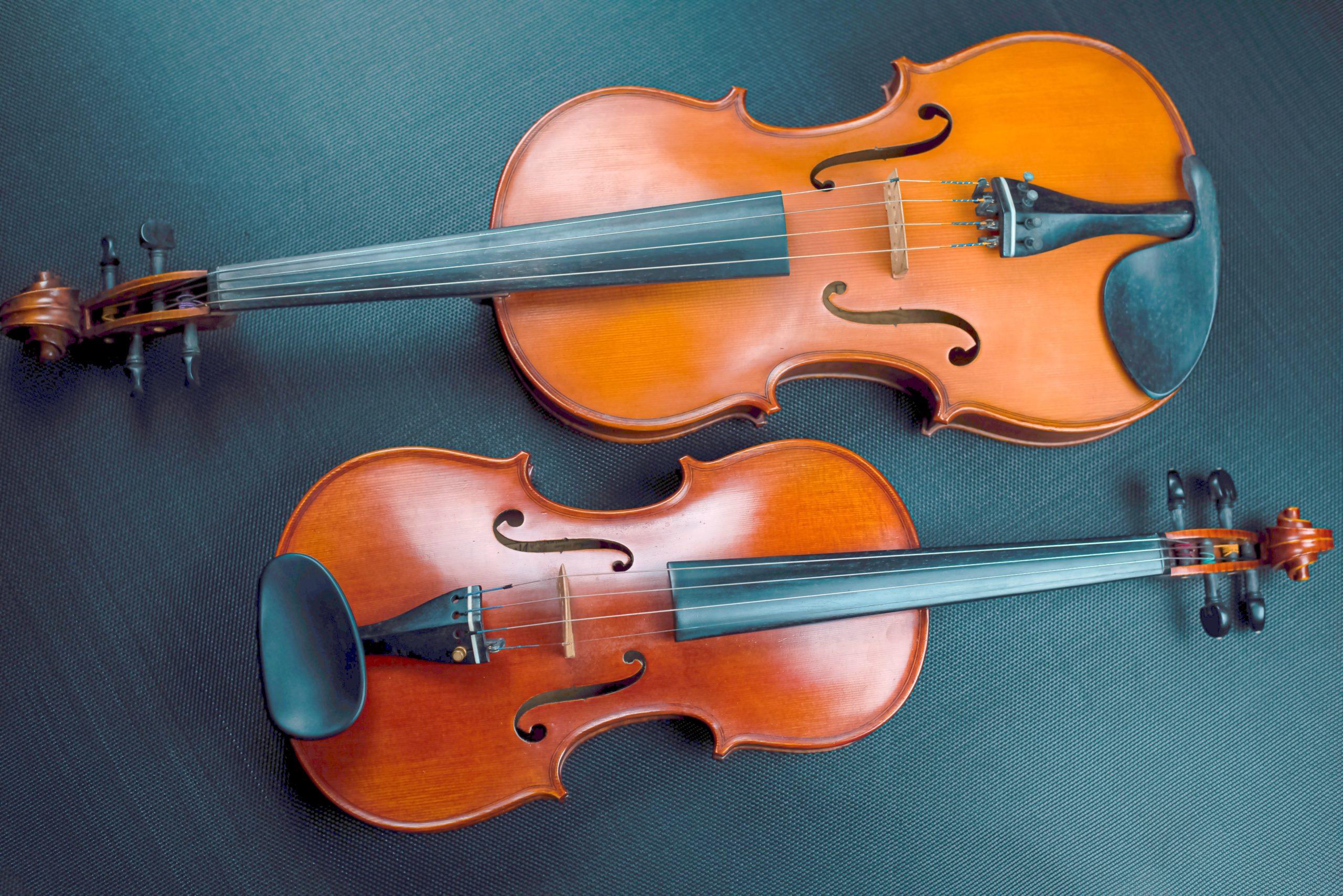 Viola vs violin - size of the instrument