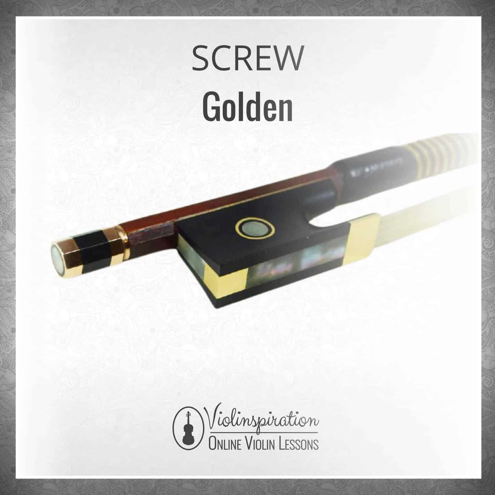 Violin Bow Materials - Golden Screw