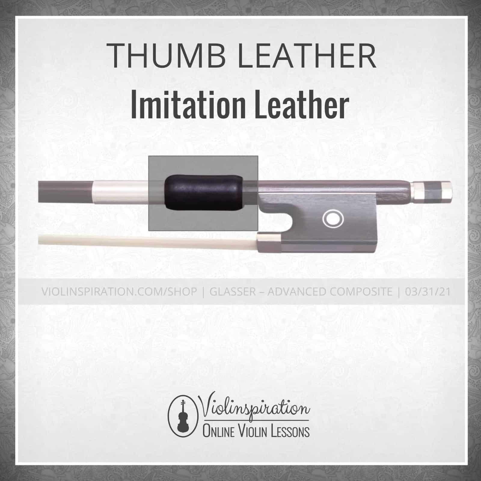 Violin Bow Materials - Thumb Leather - Imitation