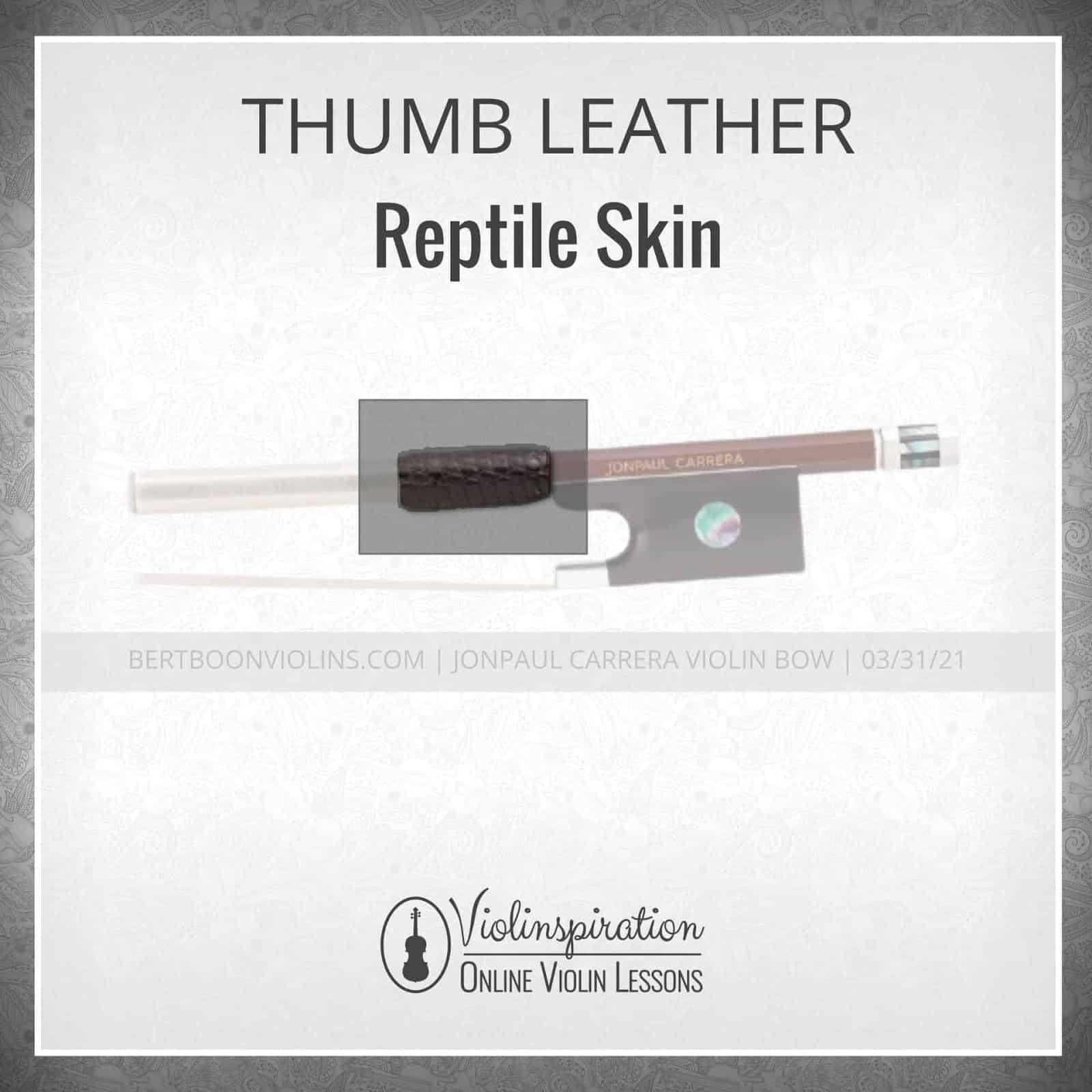 Violin Bow Materials - Thumb Leather - Reptile Skin