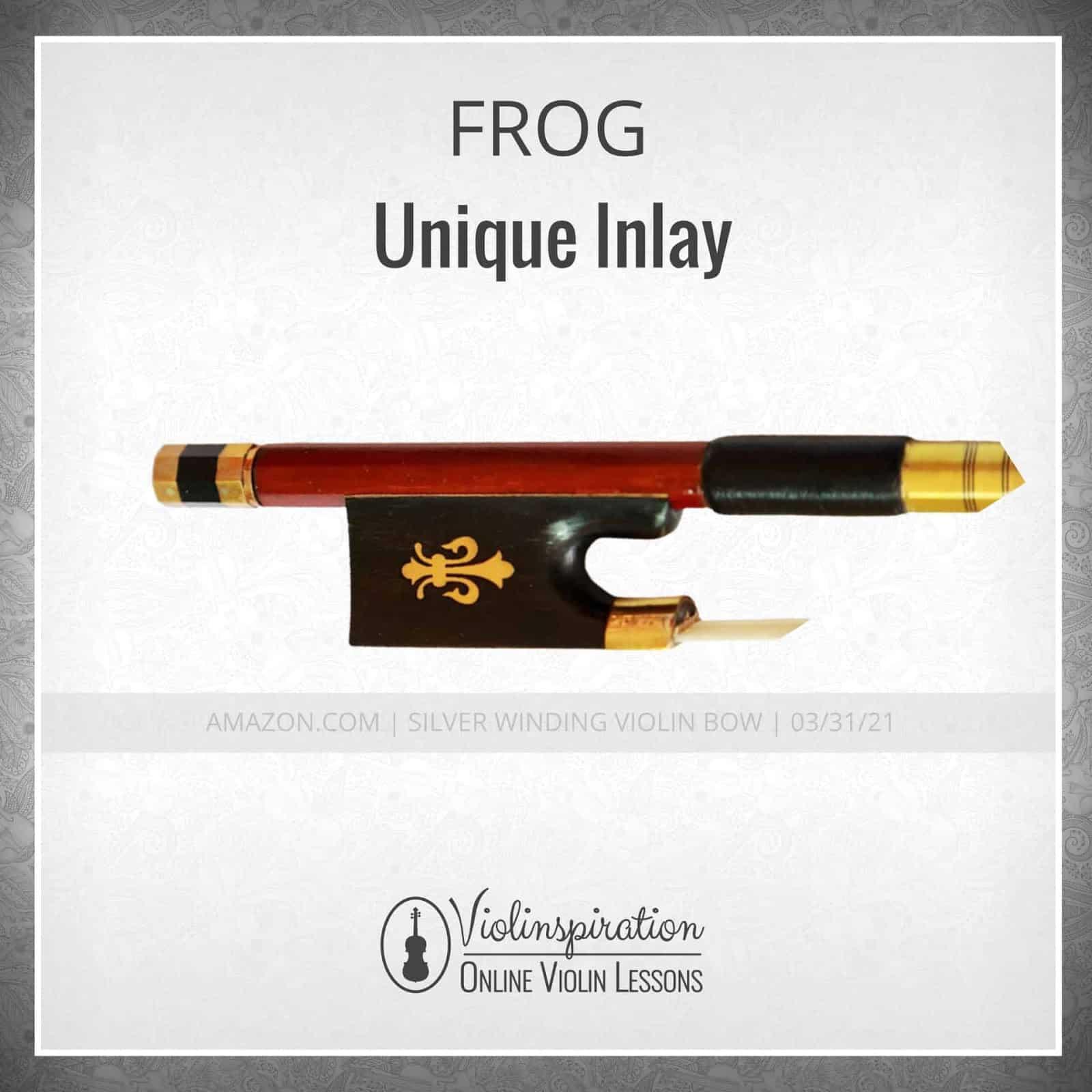 Violin Bow Materials - Unique Frog Inlay