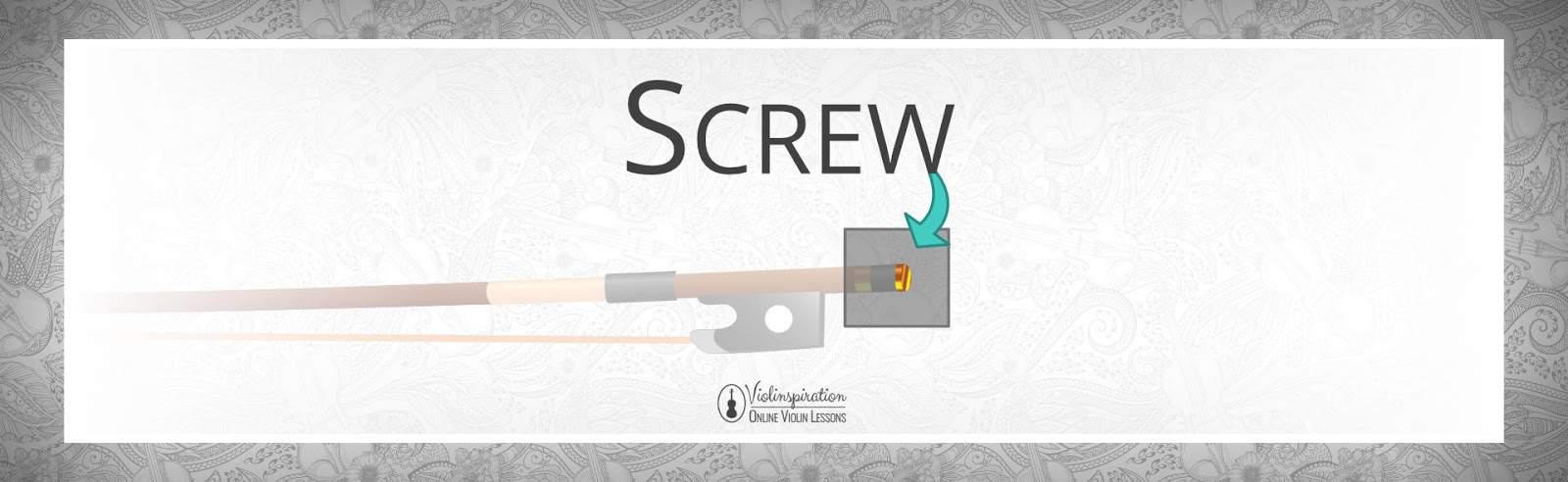 Violin Bow Parts - Screw