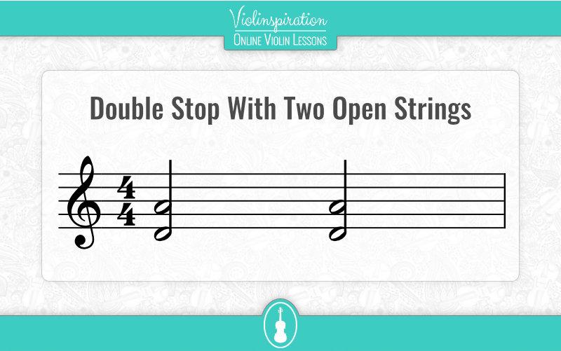 Violin Double Stops - Open Strings