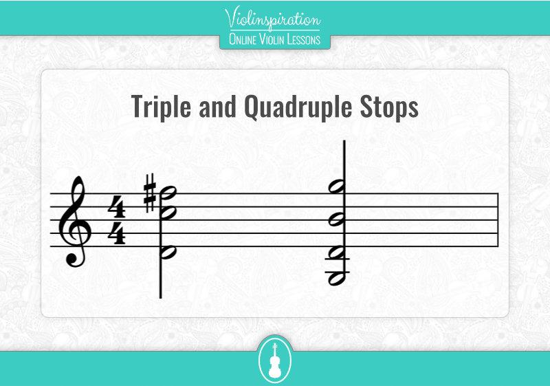 Violin Double Stops - Triple and Quadruple Stops