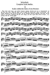 Violin Intonation Exercises - Henry Schradieck - Complete Scale Studies