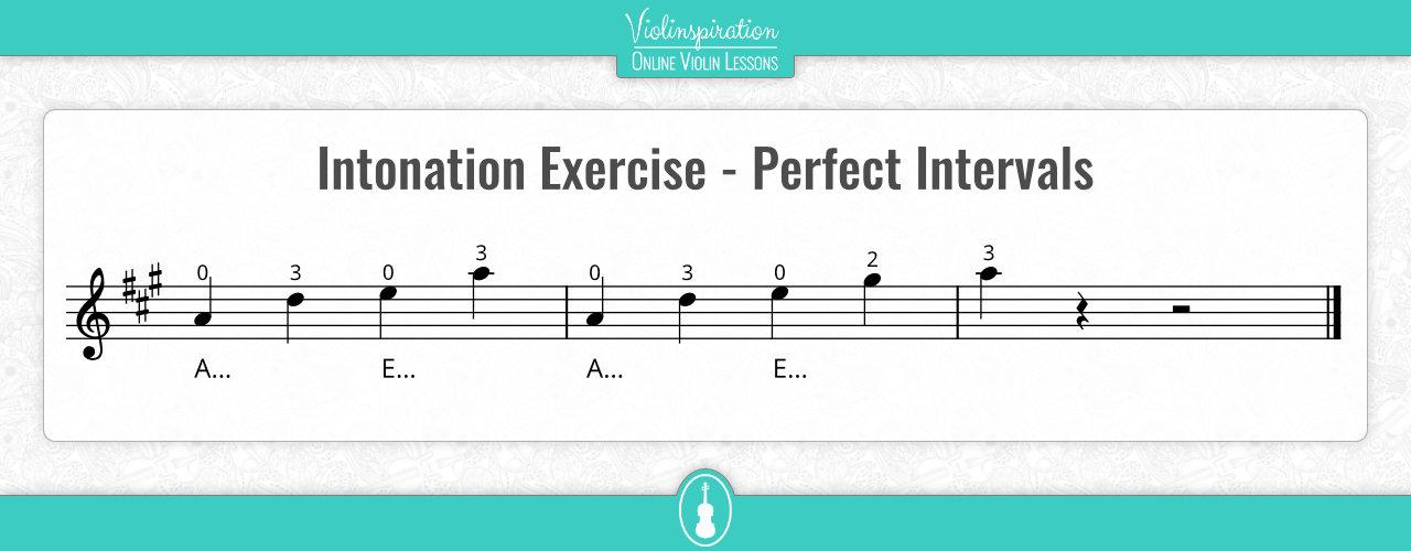 Violin Intonation Exercises - Perfect Intervals