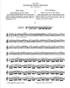 Violin Intonation Exercises - Sevcik - School of Violin Technique Op.1 Book1 for Violin