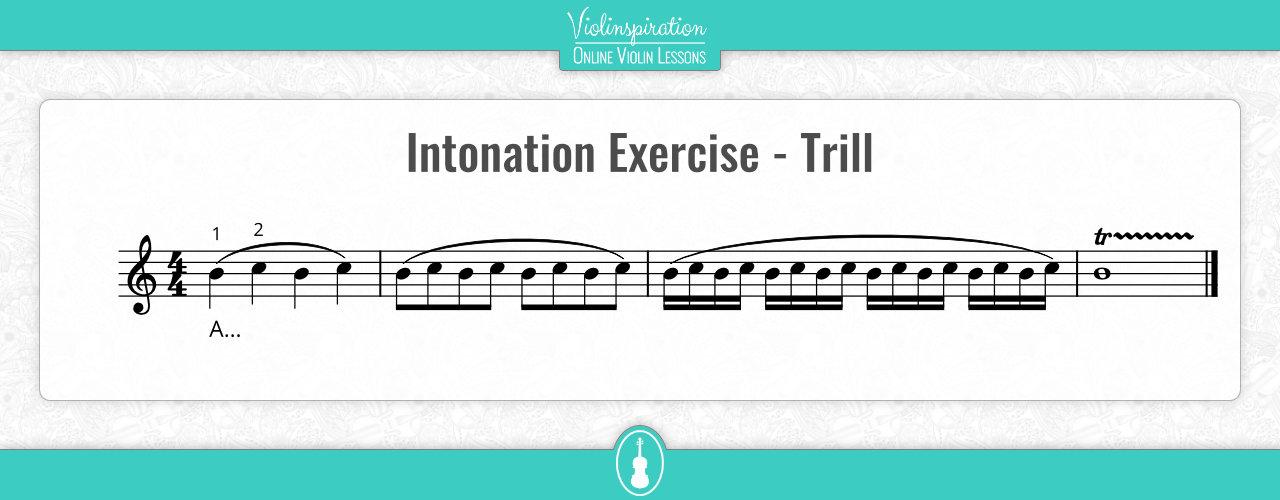 Violin Intonation Exercises - Trill