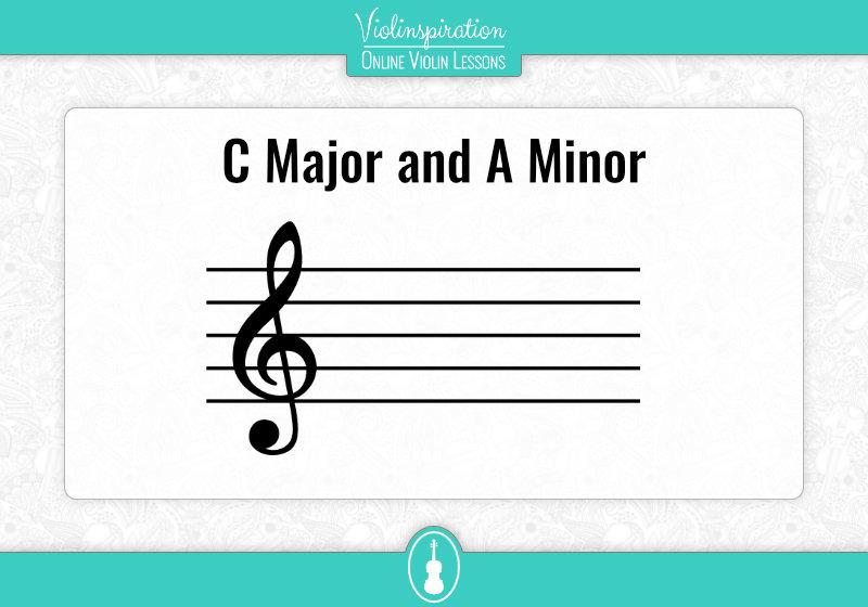 Violin Key Signatures - C Major and A Minor Key Signature