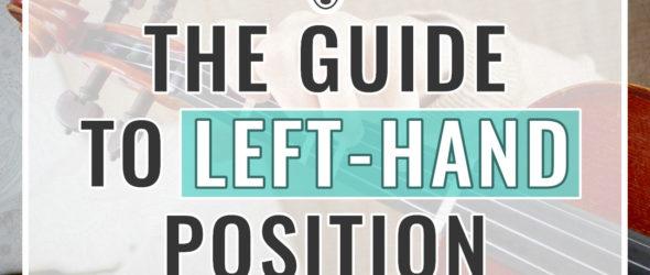 Violin Left Hand Position