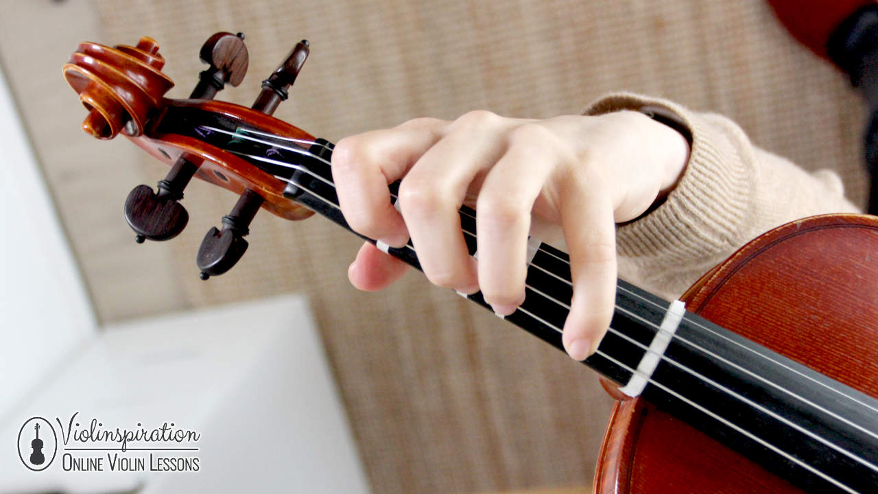 Violin Left Hand Position - Position of the Fingers