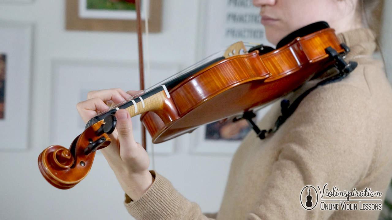 Violin Left Hand Position - The Wrist Shape