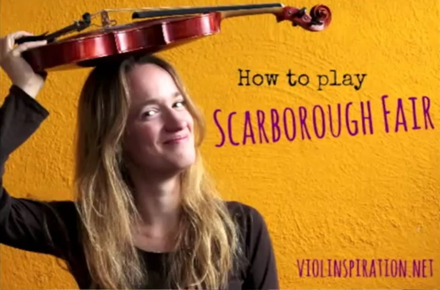 Violin Lesson – How to play Scarborough Fair by Simon & Garfunkel – Video Sheet Music Tutorial