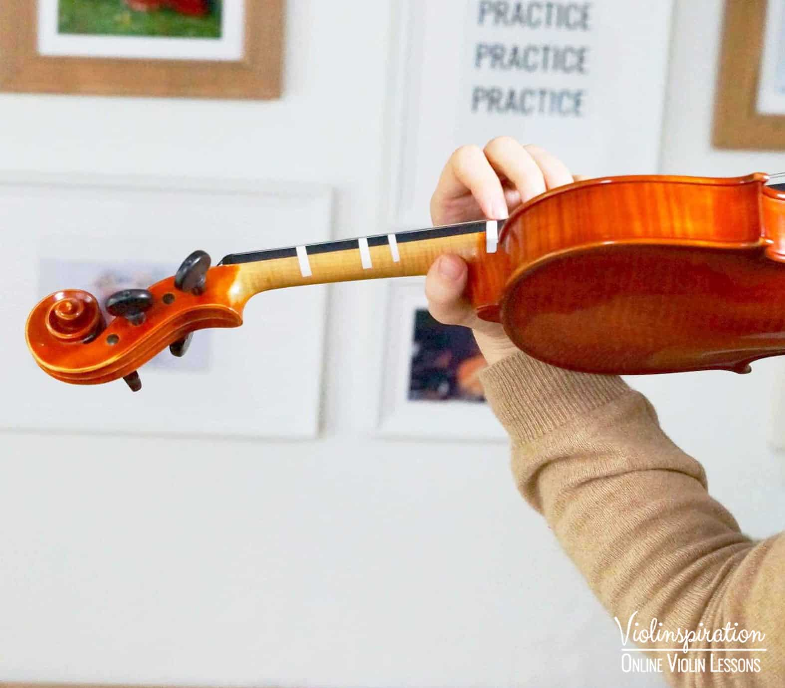 Violin Positions - Fifth Position Left Hand Close-up