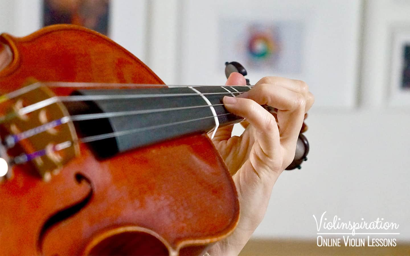 Violin Positions - First Position Left Hand Close-up 2