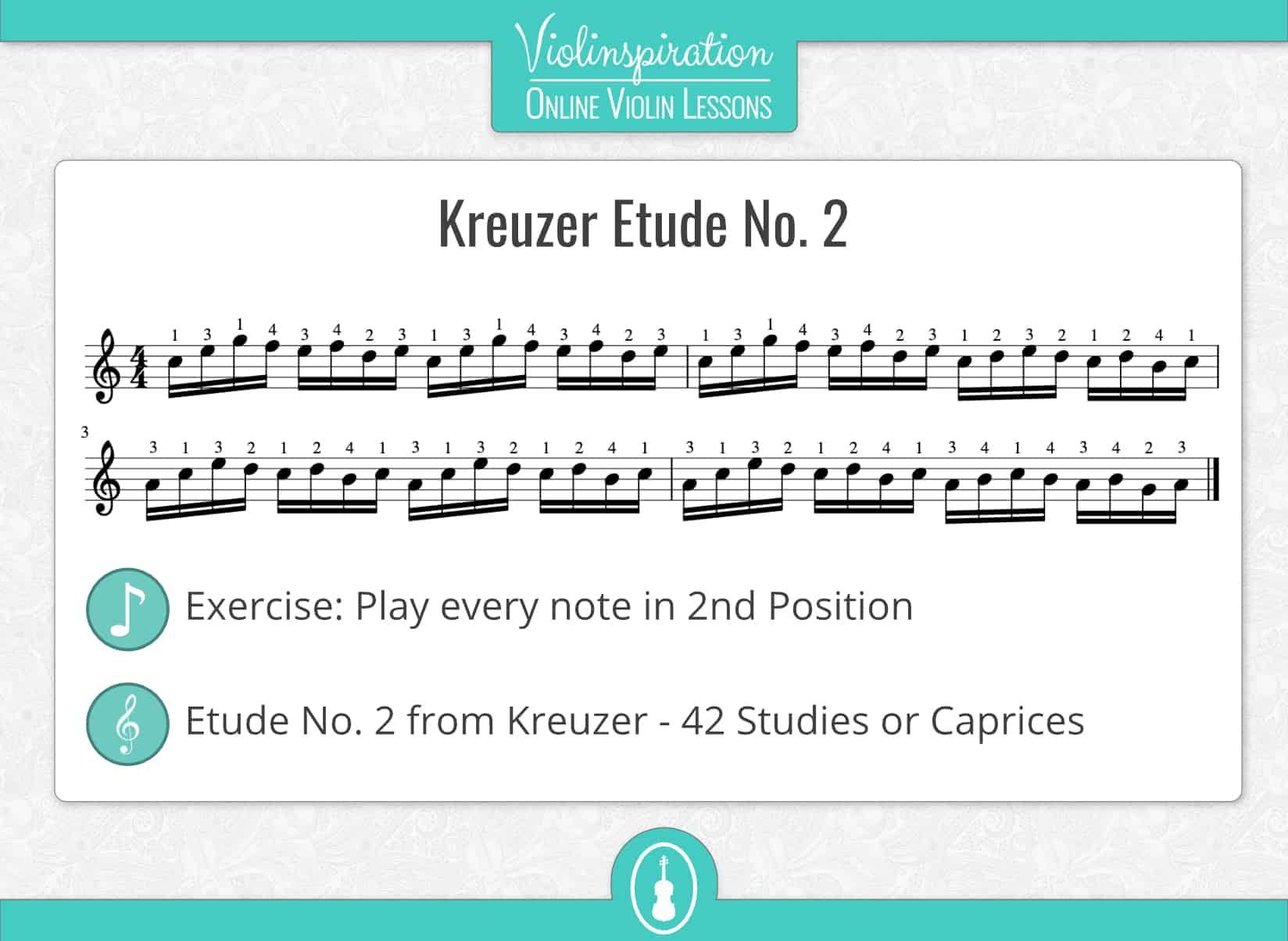Violin Positions - Kreuzer Etude No.2 Second Position