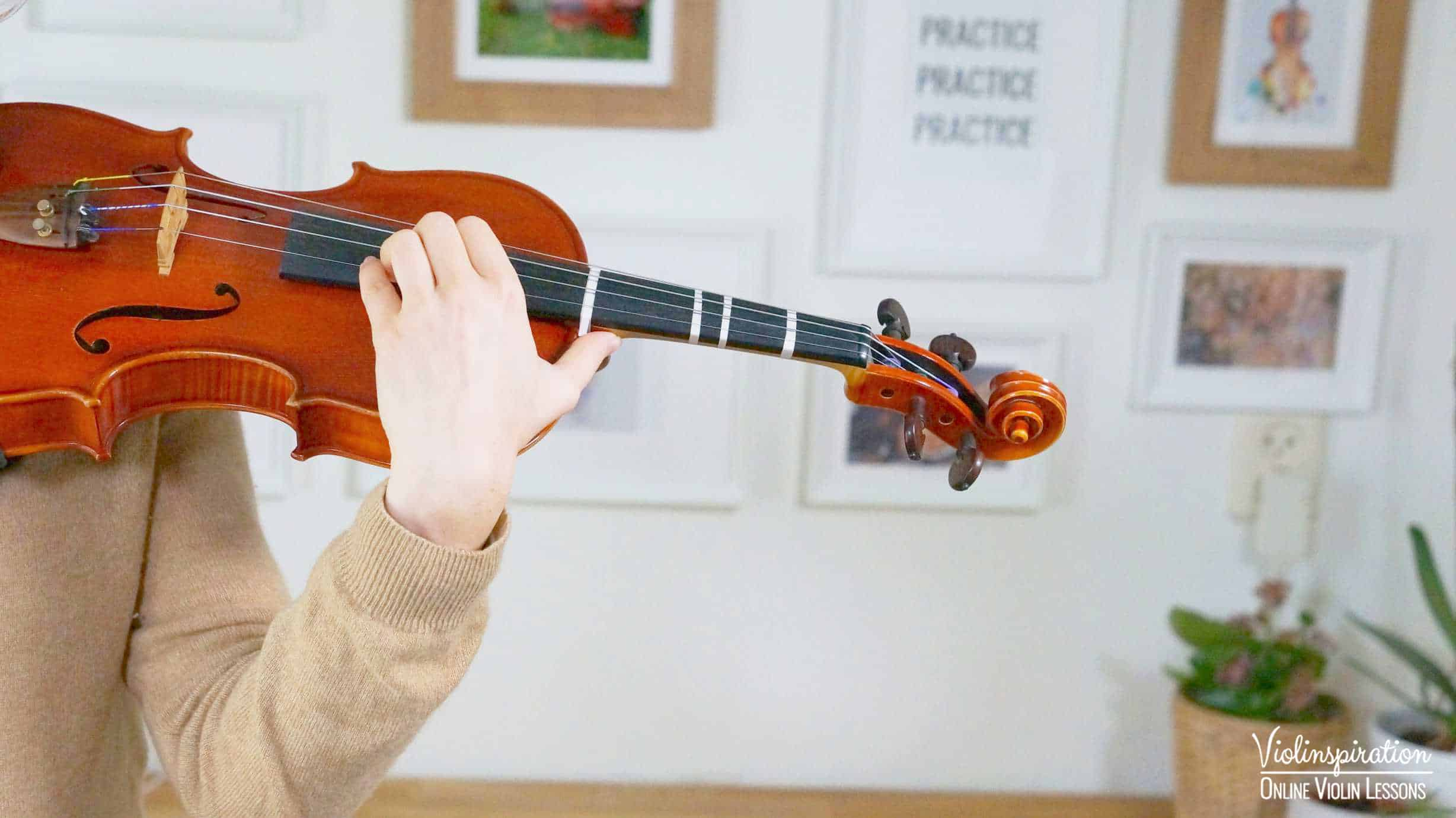 Violin Positions - Sixth and Higher Position Left Hand Close-up 1