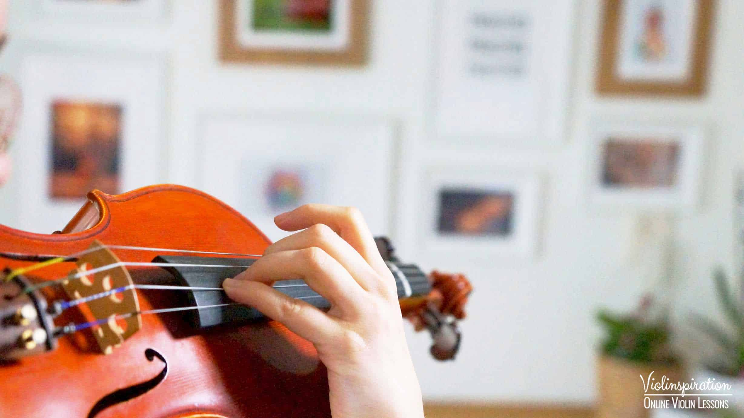Violin Positions - Sixth and Higher Position Left Hand Close-up 2
