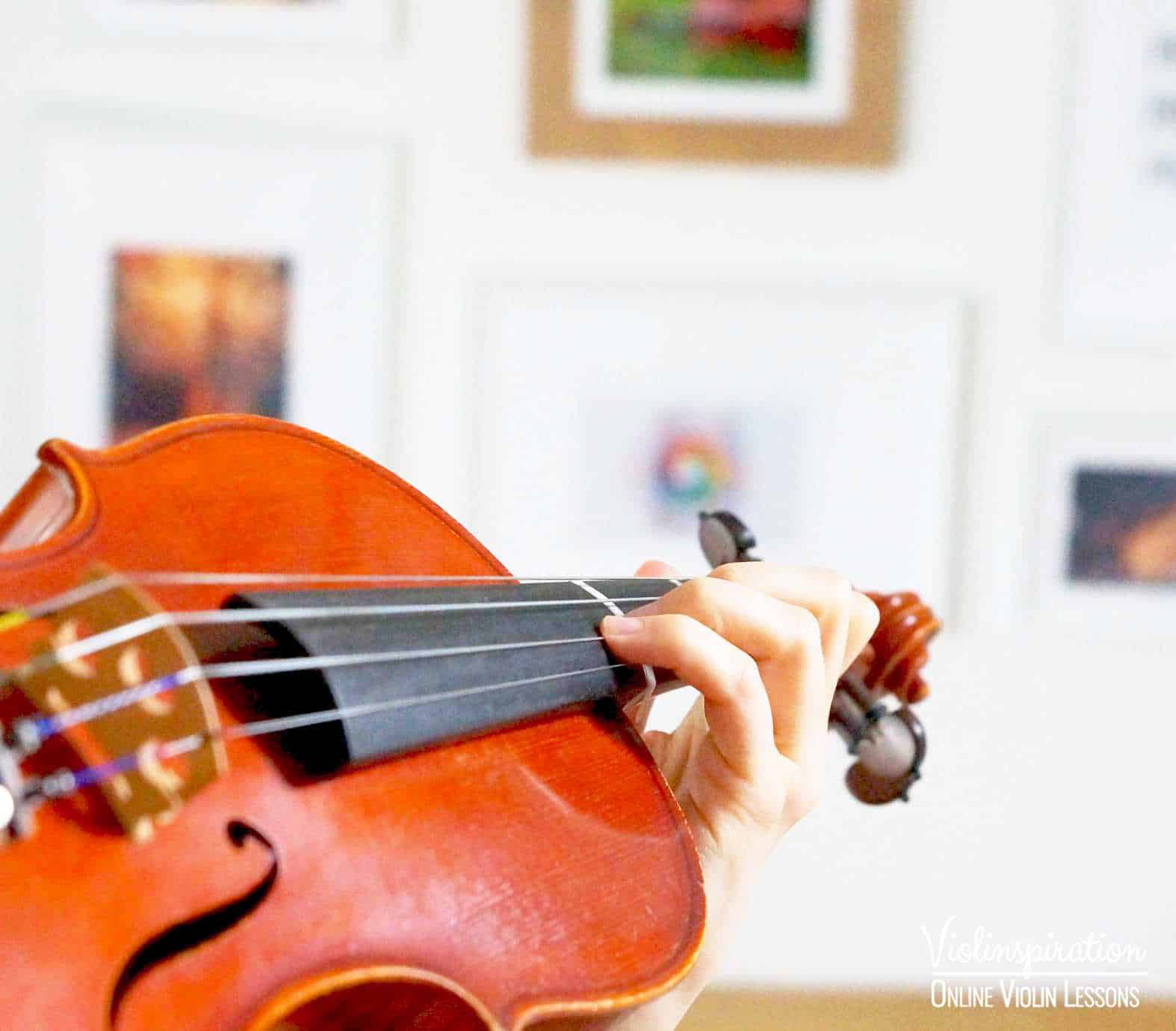 Violin Positions - Third Position Left Hand Close-up 1