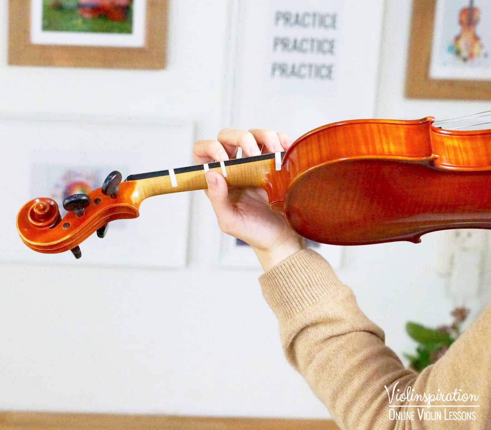 Violin Positions - Third Position Left Hand Close-up 2