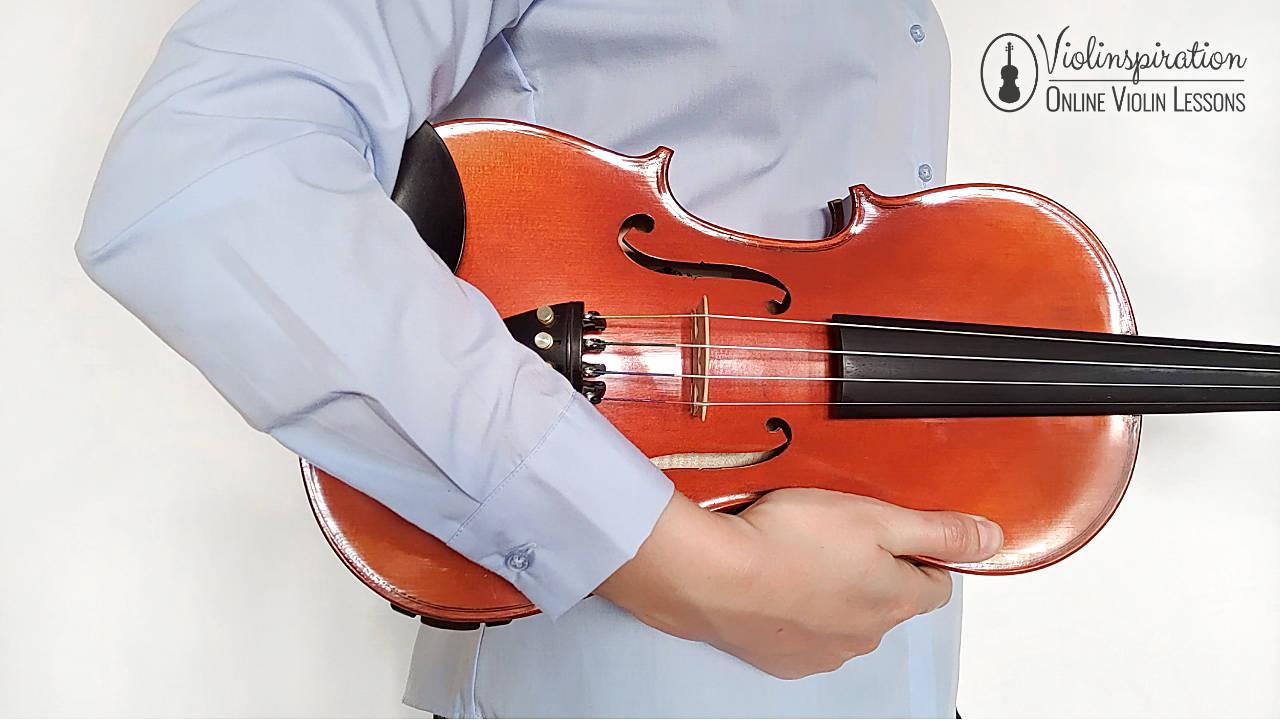 Violin Posture - Standing Rest Position