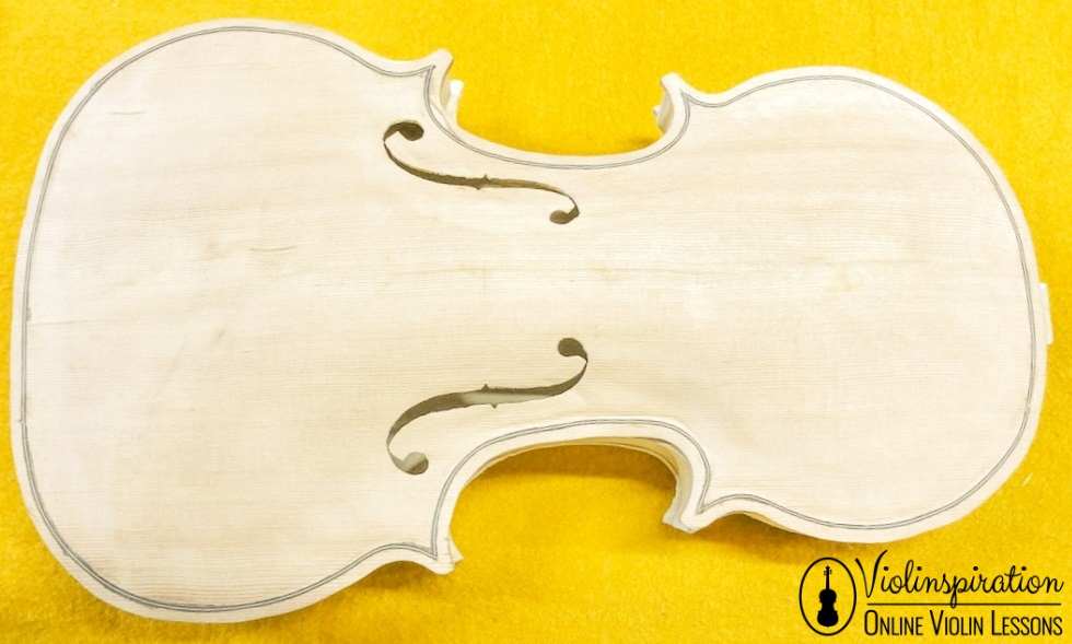 Violin made of - body of the violin