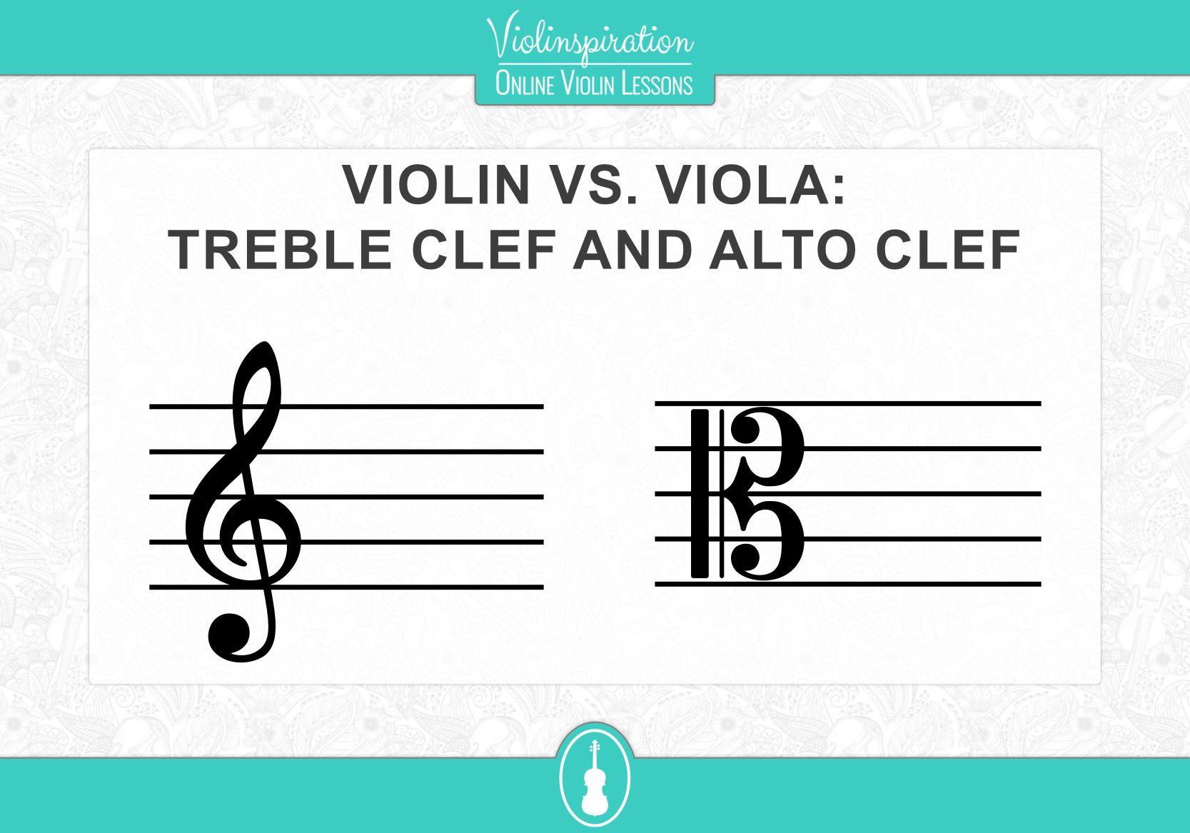 Violin vs viola - Treble Clef and Alto Clef