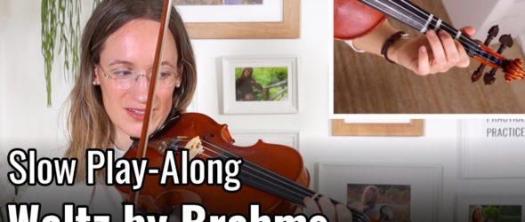 Violin Lesson - Waltz by J. Brahms - Suzuki Violin Book 2