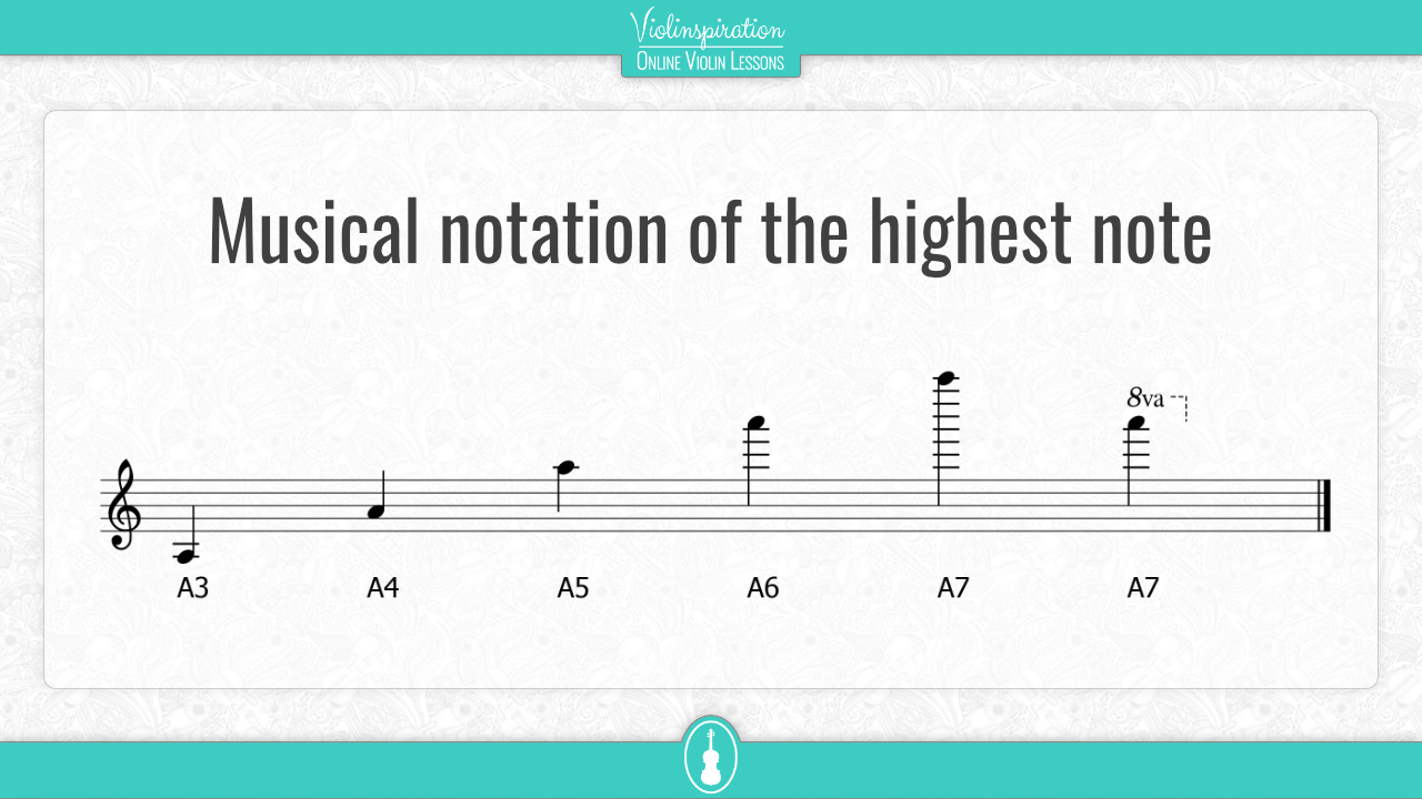 Highest note - music notation