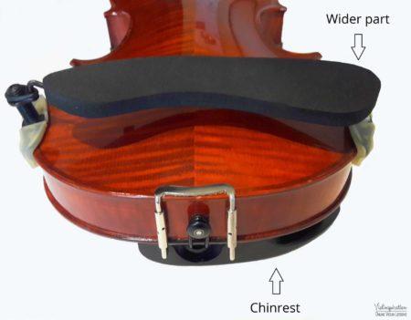 How to place a shoulder rest on a violin - shoulder rest placing