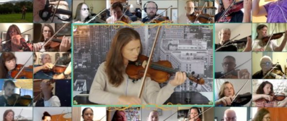 Worldwide Virtual Adult Violinists Orchestra - ALL Adult Beginners!! - Violin Lesson