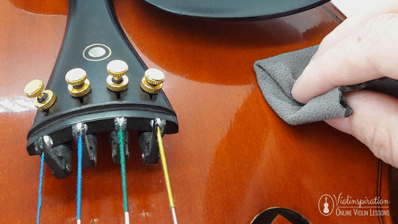 how to clean a violin - polishing the wood