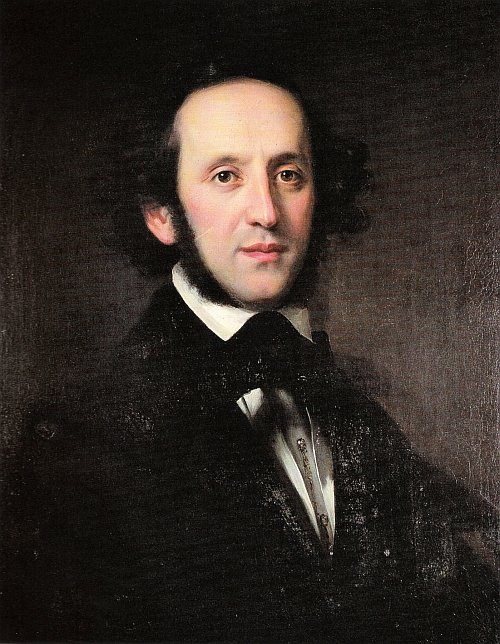 romantic period composers - Felix Mendelssohn Bartholdy by Eduard Magnus