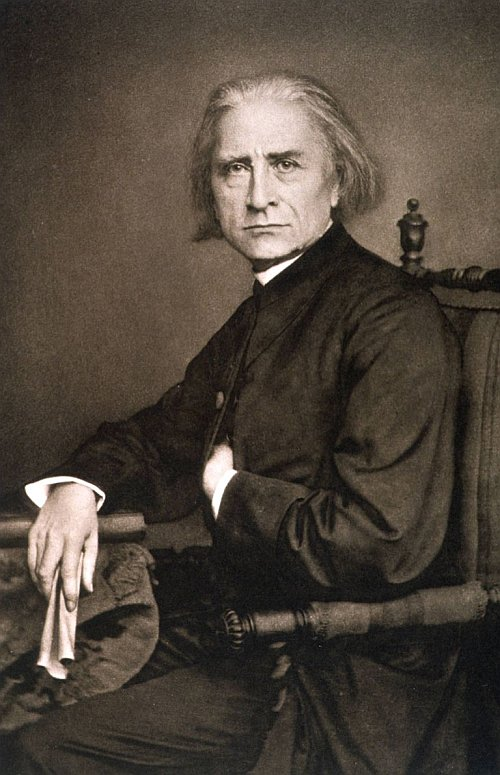 romantic period composers - Ferenc Liszt by Franz Hanfstaengl