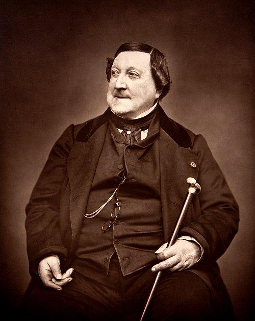 romantic period composers - Gioacchino Rossini by Étienne Carjat