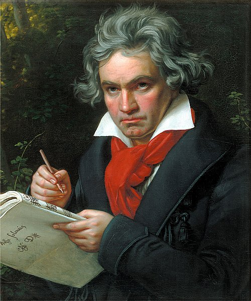 romantic period composers - Ludwig van Beethoven by Joseph Karl Stieler