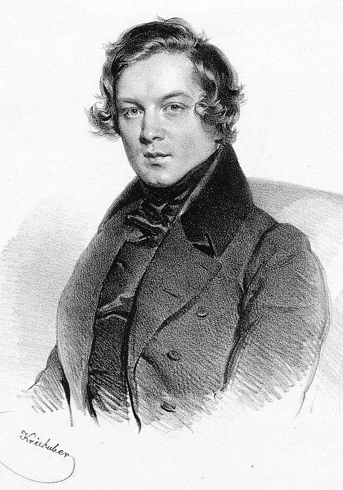 romantic period composers - Robert Schumann by Josef Kriehuber